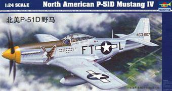 Trumpeter 02401 North American P-51 D Mustang IV 1:24