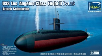 Riich Models RN28006 USS Los Angeles Class Flight II(VLS) Attack Submarine 1:350
