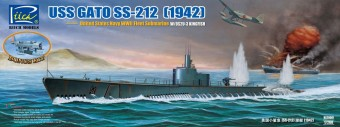 Riich Models RS20001 USS Gato SS-212 Fleet Submarine 1942 1:200