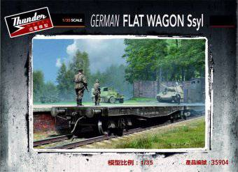 Thunder Model 35904 German Flat Wagon Ssyl 1:35