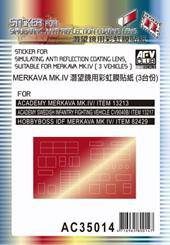AFV-Club AC35014 Sticker anti reflection for Merkava MkIV 1:35