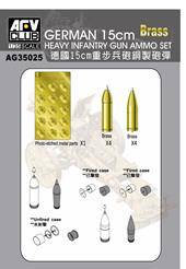 AFV-Club AG35025 Metal ammonutions and photo-etched for Sig33 15cm gun 1:35
