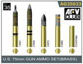 AFV-Club AG3533 75mm gun ammo brass set 1:35
