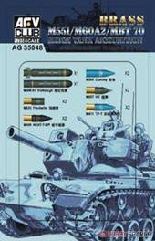 AFV-Club AG35048 M551/60A/MBT70 152MM Ammunition (Brass) 1:35