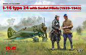 ICM 32007 I-16 type 24 with Soviet Pilots (1939-42) Limited 1:32