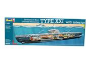 Revell 05078 U-Boot Typ XXI U 2540 with interior 1:144