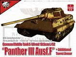 Modelcollect UA35015 German Middle Tank E-50 mit 10.5cm L/52 Panther III Ausf.F 1:35