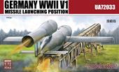 Modelcollect UA72033 Germany WWII V1 Missile launching positi 2 in 1 1:72