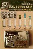 AFV-Club AG35051 US M1A1/M1A2 M256 120mm Ammo set 1:35