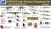 Bronco Models AB3558 WWII US Light Weapon & Equipment Set 1:35