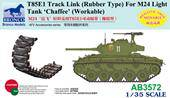 Bronco Models AB3572 T85E1 Track Link (Rubber Type) For M24 Light Tank Chaffee (Workable) 1:35