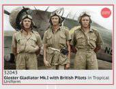 ICM 32043 Gloster Gladiator Mk.I with British Pilots in Tropical Uniform 1:32