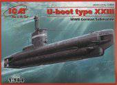 ICM S.004 U-Boat Type XXIII, WWII German Submarine 1:144