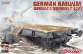 Modelcollect UA72086 German Railway Schwerer Plattformwagen Type ssys 1+1 pack 1:72